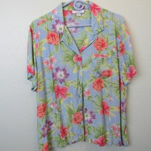 Womans Camp Tropical Shirt by Dress Barn Size XL